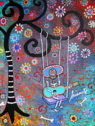 Swing Paintings - Swinging Mariachi by Pristine Cartera Turkus