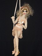 Doll Sculptures - Swinging Sassy Sally by Amanda Machin