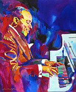Piano Player Prints - Swinging with Count Basie Print by David Lloyd Glover