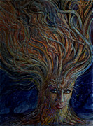 Flowing Hair Posters - Swirling Beauty Poster by Frank Robert Dixon