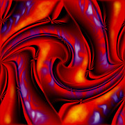 Energy Posters - Swirling Fires Poster by Christopher Gaston