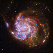 Nebulas Photos - Swirling Red Galaxy by The  Vault