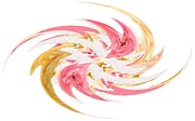 Patricia Sundik - Swirling Roses Abstract
