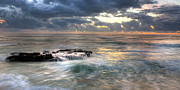 Seascape. Winter Prints - Swirling Seas Print by Peter Tellone