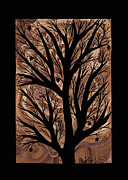 Earth Tones Drawings - Swirling Sugar Maple by Barbara St Jean
