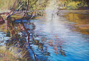 Lynda Robinson Posters - Swirls and Ripples - Goulburn River Poster by Lynda Robinson