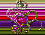 Chuck Staley Digital Art - Swirls by Chuck Staley