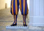 Military Uniform Metal Prints - Swiss Guards. Vatican Metal Print by Bernard Jaubert