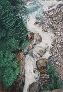 Swift Painting Originals - Swiss River by James Cassel