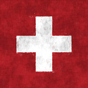 Swiss Digital Art - Switzerland Flag by World Art Prints And Designs