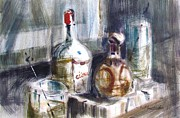 Ice Wine Painting Posters - Swizzle Poster by Marc L Gagnon