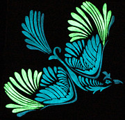 Glow In The Dark Paintings - swooping Phoenix by Twilight Vision