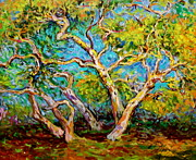Sycamore Paintings - Sycamore Intertwined by Jan Mecklenburg