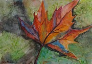 Sycamore Paintings - Sycamore Leaf by Celia Blanco
