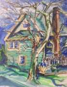 Impressionistic Drawings - Sycamore Tree by Eric  Schiabor