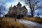 Haunted House  Digital Art Prints - Sydenham Manor Print by Tom Straub