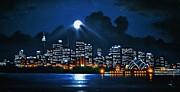 City Skylines Paintings - Sydney 2 by Thomas Kolendra