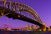 Sydney Skyline Art - Sydney at Night by Andre Distel