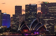 Opera House Photos - Sydney at sunset by Matteo Colombo