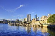 Australia Photos - Sydney Australia Circular Quay and The Rocks by Colin and Linda McKie