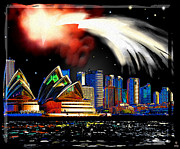 Sydney Skyline Digital Art Prints - Sydney Print by Daniel Janda