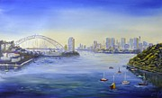 Sydney Skyline Prints - Sydney from Berry Bay Print by Christopher Vidal