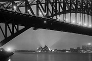 Sydney Harbour Prints - Sydney Harbour before Dawn Print by Colin and Linda McKie