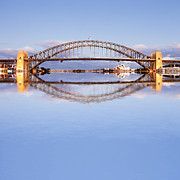 Twilight Framed Prints - Sydney Harbour Bridge at Twilight Framed Print by Colin and Linda McKie
