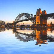 Sydney Harbour Posters - Sydney Harbour Bridge Poster by Colin and Linda McKie