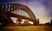 Nsw Framed Prints - Sydney Harbour Bridge Framed Print by Kym Clarke