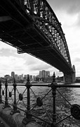 Coat Hanger Framed Prints - Sydney Harbour Bridge Framed Print by Thomas P