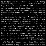 Luna Park Art - Sydney in Words Black by Sabine Jacobs