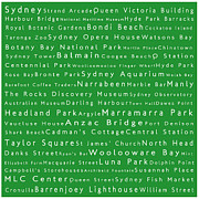 Luna Park Art - Sydney in Words Green by Sabine Jacobs