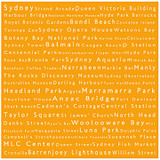 Luna Park Art - Sydney in Words Orange by Sabine Jacobs