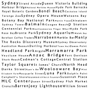 Luna Park Art - Sydney in Words White by Sabine Jacobs