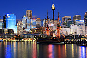 Sydney Skyline Prints - Sydney Print by Joslin Hartley