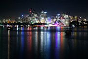Nye Framed Prints - Sydney lights Framed Print by Matteo Colombo