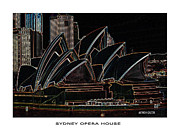 White House Mixed Media - Sydney Opera House by Anthony Dalton