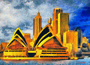 Surrealism Paintings - Sydney Opera House by George Rossidis