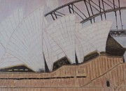 Original Art Pastels Originals - Sydney Opera House by Melissa Nankervis