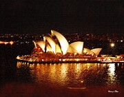 Sydney Digital Art - Sydney Opera House by Nian Chen