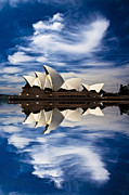 Sydney Digital Art - Sydney Opera House reflection by Sheila Smart