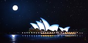 Black Light Art Painting Originals - Sydney Opera House by Thomas Kolendra