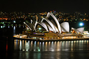 Best Choice Framed Prints - Sydney Opera Framed Print by Syed Aqueel