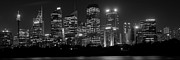 Sydney Skyline In Bw Print by Cliff C Morris Jr