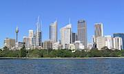 Sydney Skyline Print by Simon Alvinge