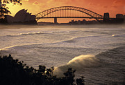 Waves Energy Prints - Sydney Surf Time Print by Sean Davey