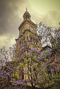 Historical Landmark Digital Art Metal Prints - Sydney Town Hall Metal Print by Julie Palencia