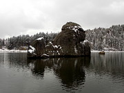 Needles Highway Prints - Sylvan Lake Island Print by Clarice  Lakota