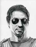 Sylvester Stallone Drawings - Sylvester Stallone - The Expendables by Fred Larucci